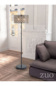Chandler Floor Lamp Distressed Black