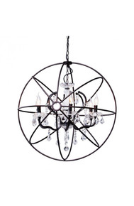 Diamond Ceiling Lamp Distressed Black