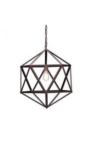 Amethyst Ceiling Lamp Small Rust