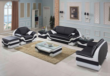 Divani Casa 0613 Bonded Leather Sofa Set