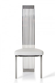 Modrest B8362 Modern White Leatherette Dining Chair
