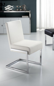 Modrest Batavia Modern White Leatherette Dining Chairs