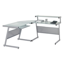 Euro L Computer Desk with Keyboard Tray