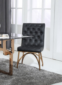 Modrest Rosie Modern Black & Rosegold Dining Chair