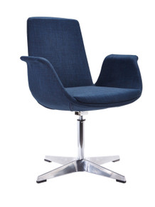 Modrest Dacia Modern Blue Fabric Accent Chair