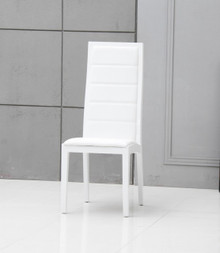 Donna - Contemporary White Leatherette Dining Chair