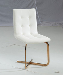 Modrest Haslet Modern White & Rosegold Dining Chair
