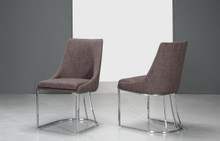 Modrest Itasca Modern Grey Fabric Dining Chair