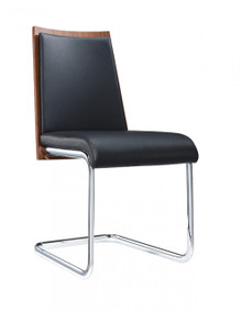 Modrest Morgan Modern Black & Walnut Dining Chair
