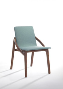 Modrest Jett Modern Blue Fabric Dining Chair