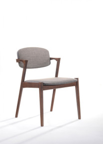 Modrest Skylar Modern Sesame Fabric Dining Chair