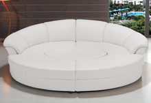 Circle Modern Bonded Leather Circular Sectional 5-Piece Sofa Set