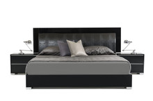 Modrest Grace Italian Modern Black Bed Queen