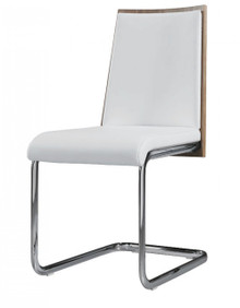 Modrest Morgan Modern White & Walnut Dining Chair