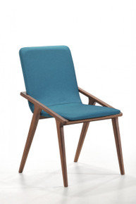 Modrest Zeppelin Modern Blue Dining Chair