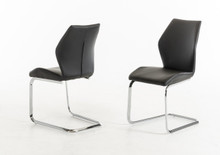 Modrest Welles Modern Black Leatherette Dining Chair