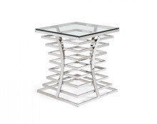 Modrest Snyder Modern Square Glass End Table
