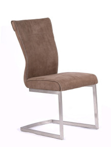 Modrest Zane Modern Brown Fabric Dining Chair