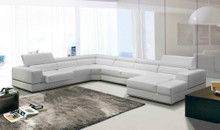 Divani Casa 5106 Modern White Bonded Leather Sectional Sofa