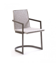 Modrest Jago Modern White Wash Grey Dining Chair