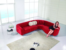 3 Pcs Red Fabric Sectional Sofa Set AE-L10L-RED