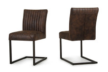 Modrest Marfa Modern Cognac Dining Side Chair