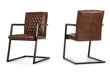 Modrest Lipan Modern Cognac Dining Arm Chair