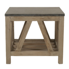 Bella Antique Blue Stone End Table 8023