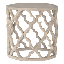 Bella Antique Clover Large End Table 8028-L