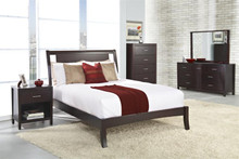 Modus Furniture Nevis Low Profile Espresso Bedroom Set