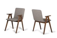 Modrest Maddox Modern Sesame & Walnut Dining Chair