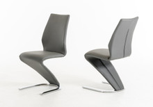 Modrest Penn Modern Grey Leatherette Dining Chair