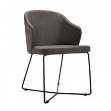 Modrest Gia Modern Grey Fabric Dining Chair