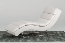 Divani Casa 1185 - Modern Eco-Leather Chaise WHT