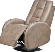 Divani Casa Templin Modern Brown Leatherette Recliner Chair