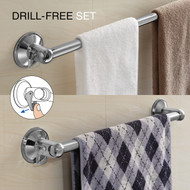 "HotelSpa® Insta Mount Bathroom Accessories 2-Piece Value Set: 24"" Towel Bar and 18"" Towel Bar"