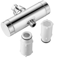Hotel Spa®  1127 Dual-Cartridge 8-stage High Performance Shower Filter with Instant Side-Load Design. Enjoy 2X Filtration Power and Superior Water Flow Capacity for More Water Pressure!