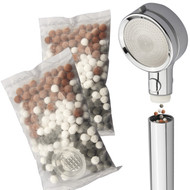 LaserJet 2-piece Mixed Mineral Stones Replacement Set - Use with Any LaserJet Handheld Shower Head or Combo – America's Most Cost Efficient Shower Water Filtration System – Trusted US Brand