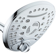 DreamSpa High Pressure 8 setting 7 inch Luxury Rainfall Shower Head with Cascading Waterfall - Modern High-Rise Adjustable with Low-Reach Flow Control Switch, All Chrome Finish - Top American Brand