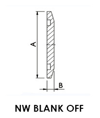 NW 16 Blank Off Flange (LVFBN16S)