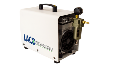 UN-250VH Dry Piston Vacuum Pump (formerly the UN-200VH) features an oil- and water-free design ideal for non-corrosive applications.  At 125 L/min, this powerful pump is ideal for moderate to heavy duty applications where a clean room environment is required