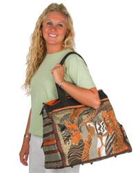 Laurel Burch Moroccan Mares Horse Travel Bag Handbag Tote