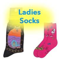 Pet Themed Ladies Socks and Footwear