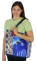 Laurel Burch Indigo Mares Shoulder Tote Bag LB5590