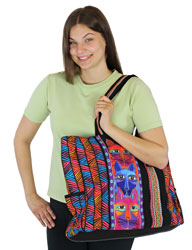 Laurel Burch Stacked Whiskered Cats Oversized Tote LB5640