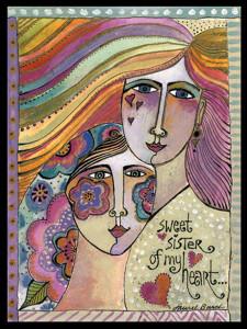 "Laurel Burch Card Friendship ""Sisters of the Heart"" - FRG13248"