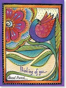 "Laurel Burch Card Friendship - ""Blossoming Wings"" - FRG13800"