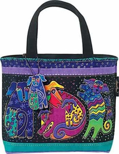 Laurel Burch Dogs and Doggies Small  Square Handbag  -  LB2073