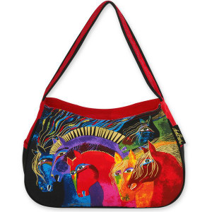 Laurel Burch Wild Horses of Fire Medium Hobo Bag - LB4843