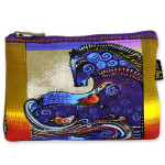 Laurel Burch Cotton Canvas Cosmetic Bag Aquatic Mares - LB4890B